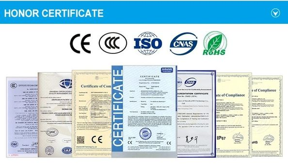 China Zhongshan Julang Electric Lighting Company Limited Certificaten